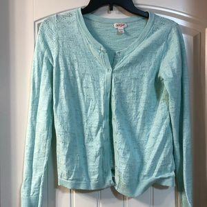 Girls pale blue cardigan sweater
